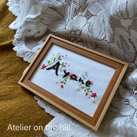 デコレーションネーム刺繍