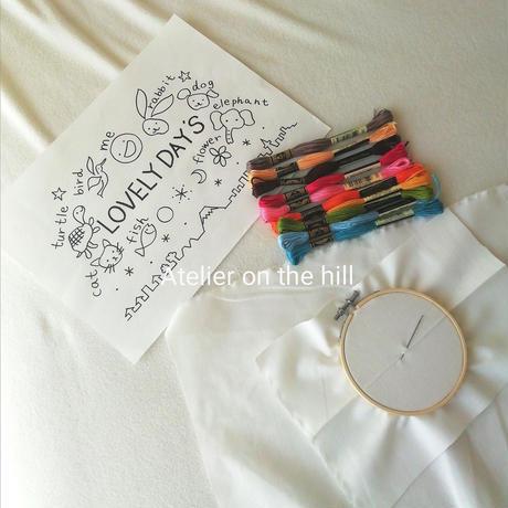刺繍キット「LOVELY DAYS」