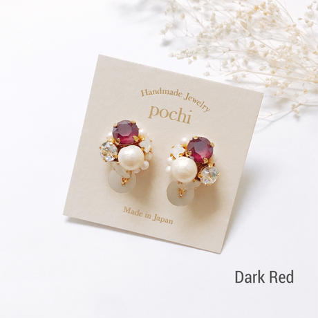 ★2016 A/W NEW COLOR★SWAROVSKI®・Crystals Bijoux Earrings - Round -