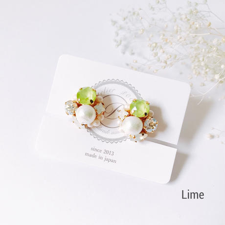 ★2019 S/S  New Color★SWAROVSKI®・Crystals Bijoux Earrings -Round-