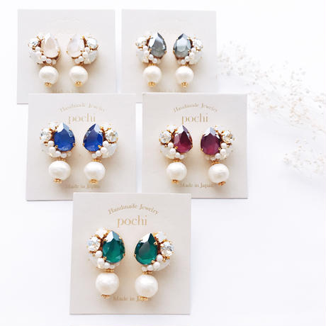 ★2016 A/W NEW COLOR★SWAROVSKI®・Crystals Bijoux Earrings - Drop×Pearl-