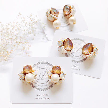 ★2019 A/W  New Color★SWAROVSKI®・Crystals Bijoux Earrings - Drop-