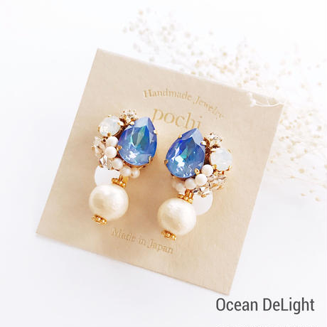 ★2020 S/S NEW COLOR★SWAROVSKI®・Crystals Bijoux Earrings - Drop×Pearl-