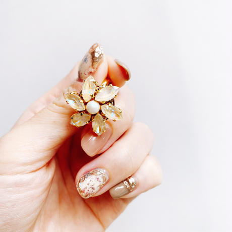 ★ 2022 S/S NEW COLOR★【リング】Crystal Flower