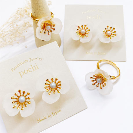 Acryl Flower Pierce
