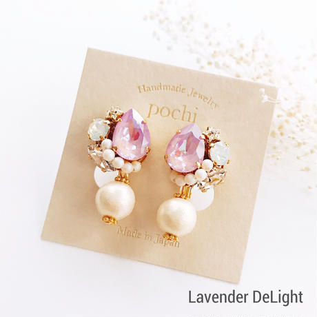 ★2020 S/S NEW COLOR★SWAROVSKI®・Crystals Bijoux Pierce - Drop×Pearl-