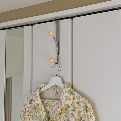 Vintage Wood Ball Door Hanger