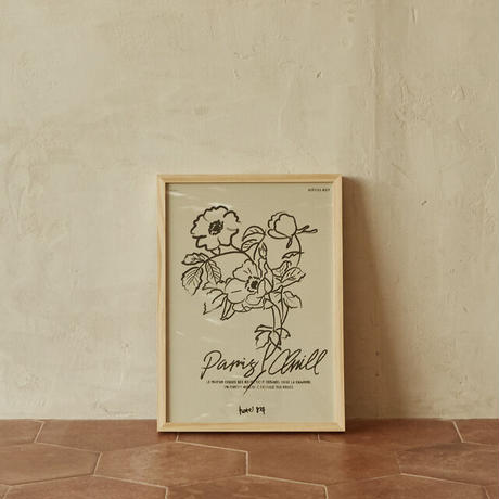 【予約販売】THE DELIGHTFUL FLOWER ART PRINT and frame SET