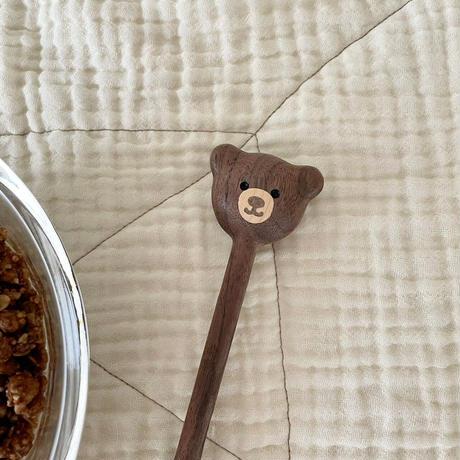 wood bear spoon