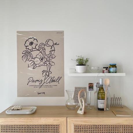 【予約販売】THE DELIGHTFUL FLOWER ART PRINT ポスターのみ(単品購入のみ)