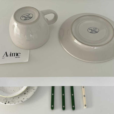 Classic Lettering  cup and saucer set A-02