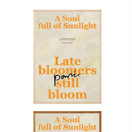 【予約販売】A Soul Full of Sunlight poster and frame SET (単品購入のみ)