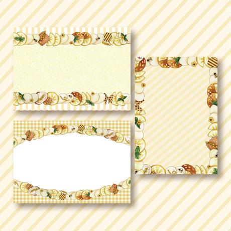 蜂蜜と檸檬のレアチーズホイップ☆ミニメモセット