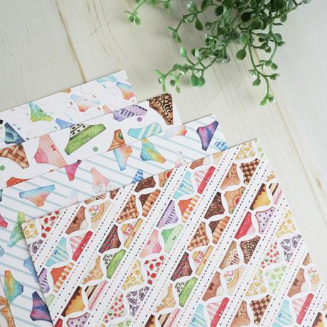 おパンツのデザインペーパー♡折り紙サイズ