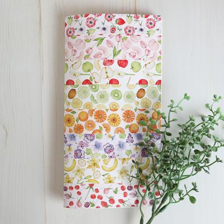 果物とお花のカラフルノート