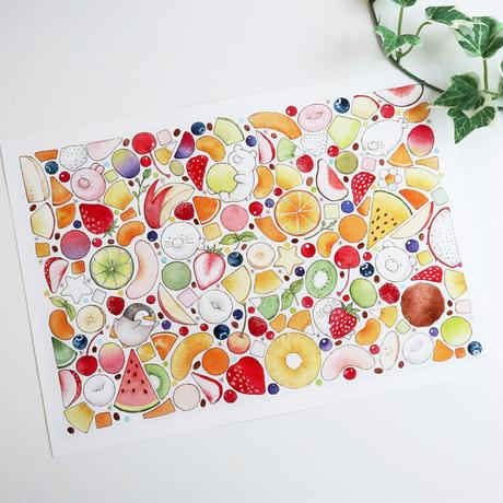 フルーツ白玉♡A4サイズポスター