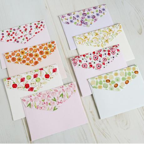 果物とお花のミニレターセット