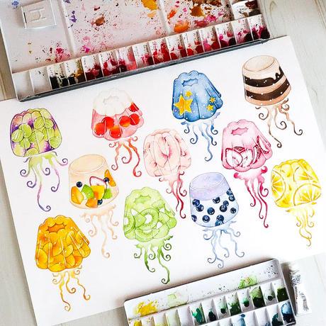 Jellyfish☆A4デザインペーパー
