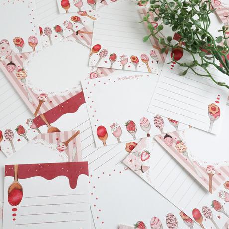 Strawberry Spoon☆ミニメモセット