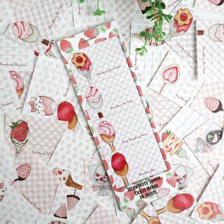 Strawberry Spoon☆チケット風ミニミニメモ