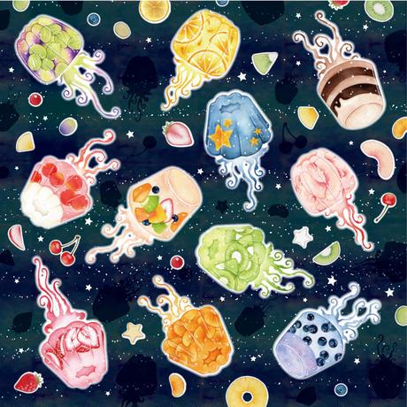 Jellyfish☆マルシェトートバッグ