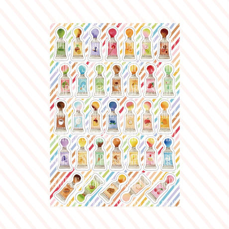 お菓子な絵の具☆シール