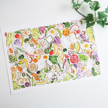 かくれんぼサラダ♡A4サイズポスター