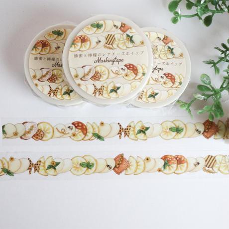 蜂蜜と檸檬のレアチーズホイップ☆マスキングテープ