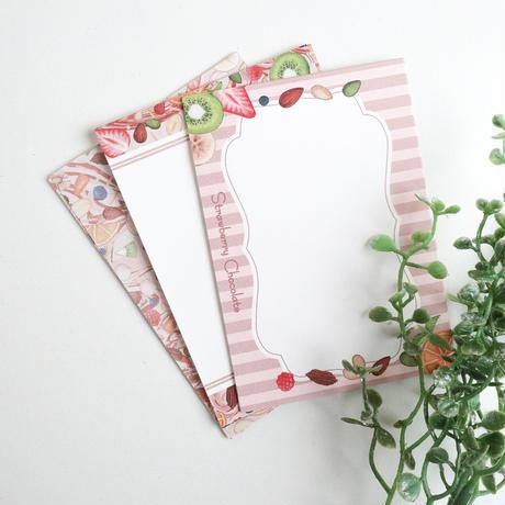 Strawberry Chocolate☆ミニメモセット