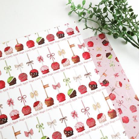魔法のりんご飴☆A4デザインペーパー