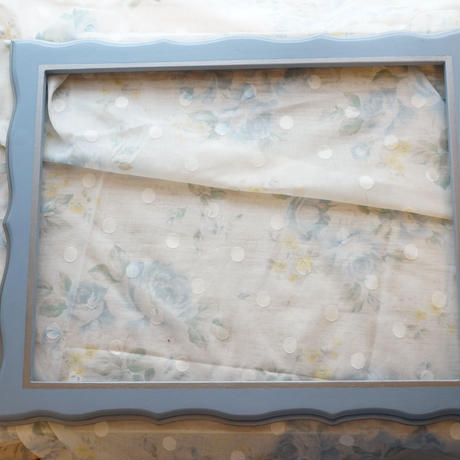 デザイン刺繍枠 A4サイズ Bluegray×silver