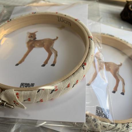 刺繍丸枠10センチ