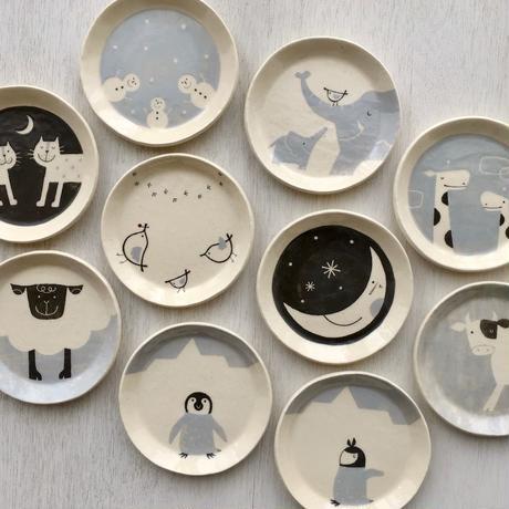 おやつ円皿 / S size【Monochrome Art】