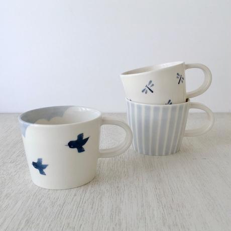 マグカップ / バード・トンボ・しま【Japanese Blue】