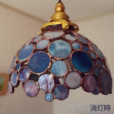 ステンドグラス ペンダントライト紫陽花