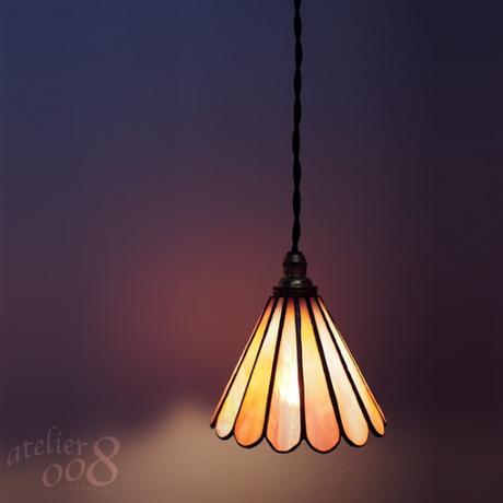 ステンドグラス ペンダントライト chrysanthemum(LED対応コード)