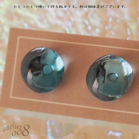 【送料無料】ガラスの粒イヤリング(ミント)