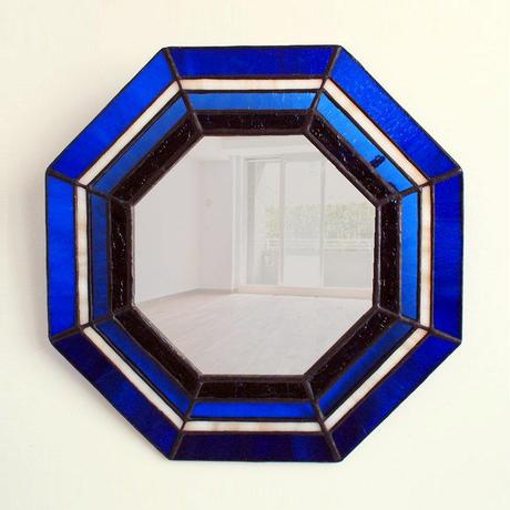 ステンドグラス八角ミラー