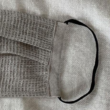 ワッフルリネン涼しいマスク 2マイ組Ⓜ︎ナチュラル