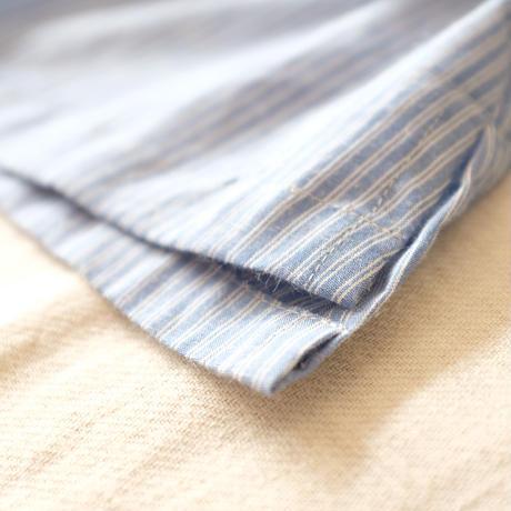 コンフォートシャツ コットン ストライプ ブルー×オフホワイト