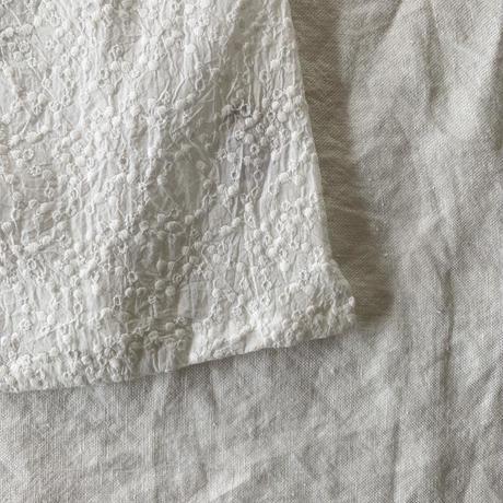 ペネロープトップブラウス コットン 水玉刺しゅう