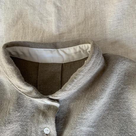 コンフォートシャツ リネンウール ツイル起毛 モカブラウン