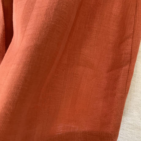クロワッサンパンツ  リネンビックヘリンボーンオレンジ
