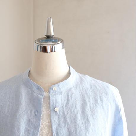 オーツシャツ  linen ダンガリー  アイスブルー