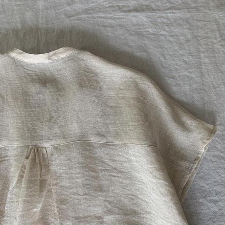 ドロップシャツ リネン和紙 生成り