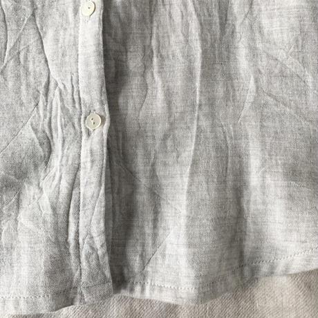 はるくシャツ コットン ダブルガーゼ グレー
