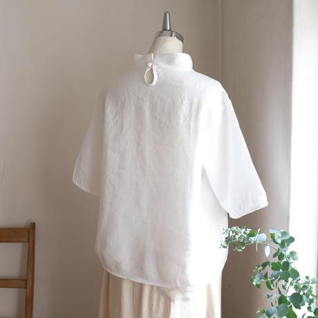 ストローシャツ リネン   オフホワイト