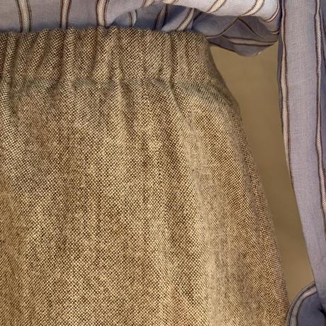 あおいスカート コットンツィード起毛 ブラウン