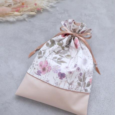 リバティ 巾着ポーチ M【 イルマ 】リバティプリント