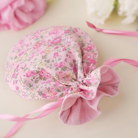 リバティ テイタム( 輸入リバティ )  まんまる巾着 ピンク